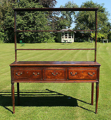 18th Century Fruitwood Dresser and Plate Rack