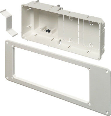NEW - Arlington TVB613 Recessed TV Outlet Box with Paintable Trim Plate, White