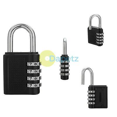 8cm Large 4 Dial Number Combination Padlock Lock Gym Lockers Sheds Toolboxes