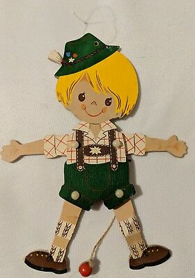 Vtg Alfred Mertens 1969 West German Wooden Ornament Puppet Mertens Kunst