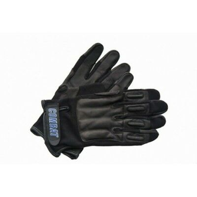 COMBAT Official Black Leather TACTICAL Real Steel Weighted SAP Gloves - XL