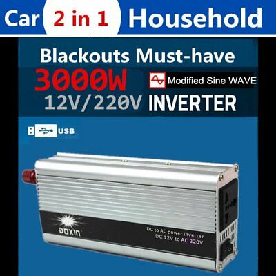 Home Car 2 in 1 650W(4000W PEAK) Sine wave Converter Inverter 220V-240V WA