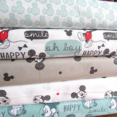 Per 1/2m - Disney Mickey Mouse & friends 100% cotton fabric for sewing & crafts