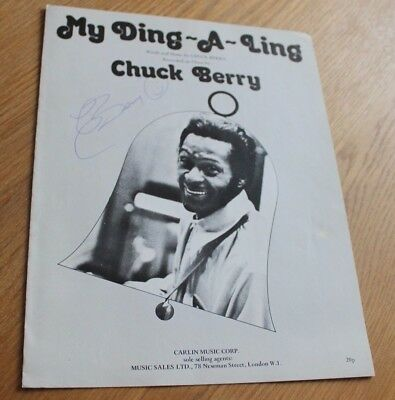 Chuck Berry Original My Ding A Ling Signed Sheet Music. Rare Signature in Biro.