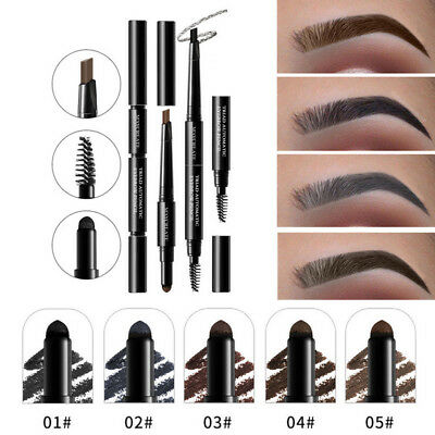 3 in 1 duraturo sopracciglia Brow Brush matita Powder Set Waterproof