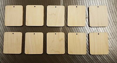 Pack of 10 quality solid Maple  wood blanks for keyrings tree tags