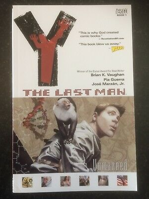 Y: THE LAST MAN Book 1 - Graphic Novel - Vertigo Comics (Contains Issues #1-10)