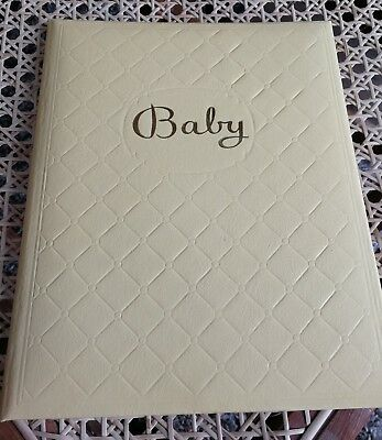 VTG Baby Keepsake Photo Album Memory Book Yellow New Old Stock Kitsch Kitschy