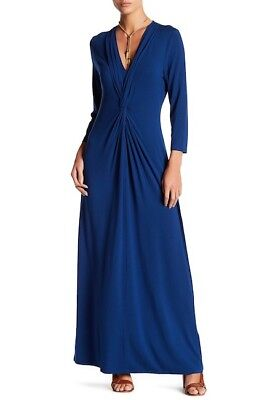 310e333c3f Tommy Bahama Ladies Tambour Twist Front Maxi Dress Bering Blue in XS NEW!