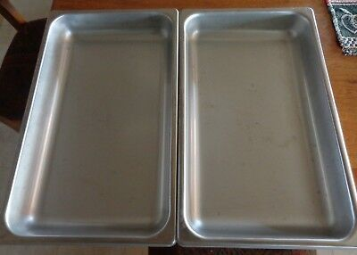 Polar Ware Pair of 7-1.2 Qt 18-8 Stainless Steel Restaurant Catering Pans E20122