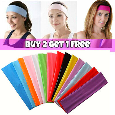Stretchy Alice Band Kylie Gym Sports School Hair Headband Girls Ladies UK