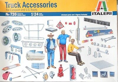 Italeri Models 1:24 Truck Accessories Kit Vehicle Parts Plastic Scale Mags