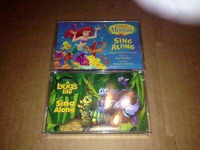 Disney Sing Along Cassette Lot A Bug's Life And The Little Mermaid