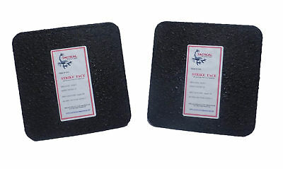 Level III AR500 Steel Body Armor Pair 6x6 Flat Plate Coated - Quick Ship