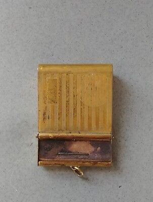 Antique/Vintage Brass Lighter and Match Holder (Unique) No Markings