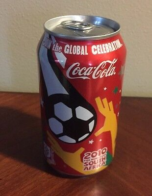 2010 FIFA World Cup South Africa COKE Coca-Cola Can Vtg Soccer FULL 12 oz. Can