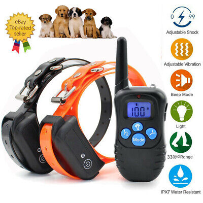 330 Yards Dog Training Shock Collar Remote Waterproof Rechargeable Pet Trainer