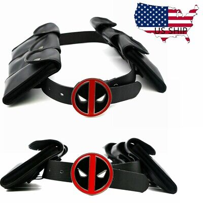 Deadpool Buckle Belt With Pockets Adjustable Cosplay Costume Accessory Props