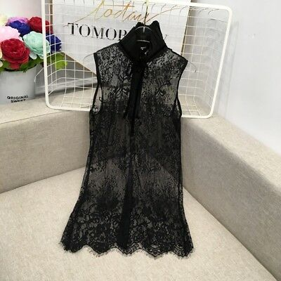 Lady Lace Underdress Slip Petticoat Camisole Underskirt Sheer Floral Hollow Out