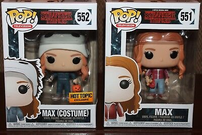 Funko Pop! Stranger Things: MAX with Costume 552 and MAX with Skateboard 551-NEW