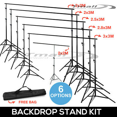 Studio Heavy Duty Backdrop Stand Photography Screen Background Support Stand KIT