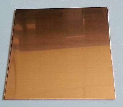 "Copper Sheet Plate .021"" 16oz 24 gauge 12"" x 12"""