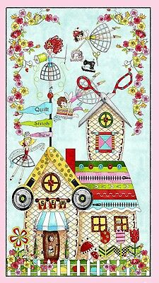 The Quilted Cottage Quilt Panel * A Place To Sew * New * Free Post * Gorgeous *