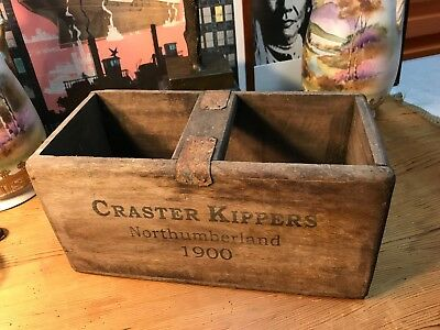 Vintage Style Craster kippers Handy Carry Storage Box Home Shop Display