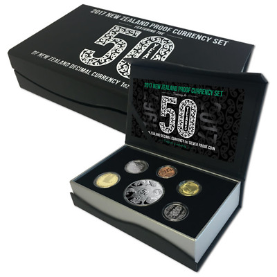 New Zealand - 2017 - Annual Proof Coin Set - 50 Years Of Decimal Currency