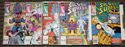 Marvel Silver Surfer (1987) # 34-38 COMPLETE STORY ARC - Rebirth of Thanos!!!