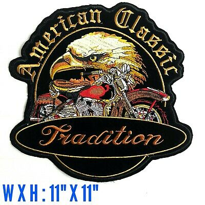 LARGE Eagle American Classic Tradition Harley Davidson Motor Biker Iron On Patch