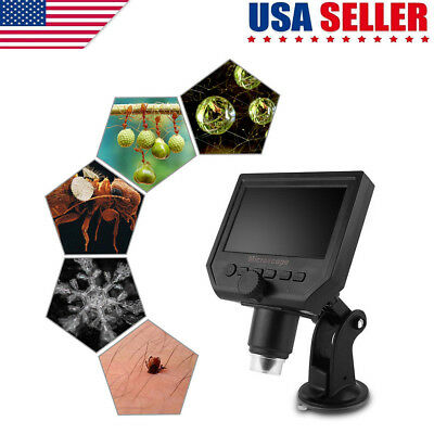 "Digital Microscope 4.3"" HD OLED 3.6MP 600X Magnification LCD Portable Amplifier"