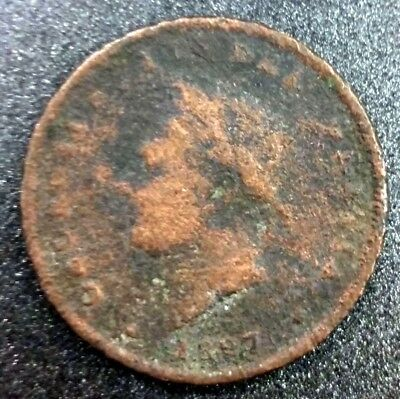 GREAT BRITAIN • George IV 1827 Penny • Scarce