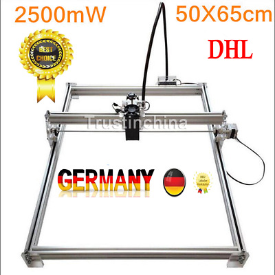 NO VAT 50X65cm 2500MW DIY Desktop Laser Engraving Machine Cutter Printer Carver