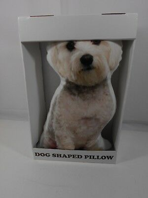 """16"""" MALTESE Dog Shaped Pillow LiLiPi Pets Home Decor Collectible New Box Puppy"""