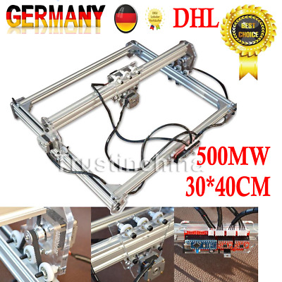 Mini Laser Engraving Machine 30X40CM DIY Logo Cutting 500mW Marking Wood Printer