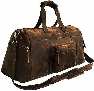 Buffalo Leather Travel Duffel Bag Overnight Weekend Luggage Carry On for  men s a433f32623
