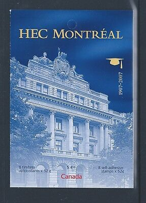 Canada Booklet 2007 HEC Montreal #BK348 MNH ** Free Shipping **