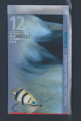 Canada Booklet 1998 Fishing Flies #BK207b MNH ** Free Shipping **