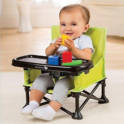 Booster Seat Baby Feeding Table Chair Removable Tray Safety Straps Folding Frame