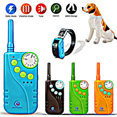 Electric Remote Dog Training Shock Collar 660 Yard Waterproof Rechargeable LCD