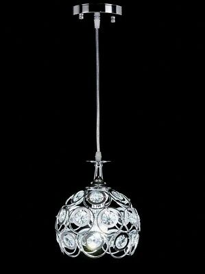 Modern Crystal Led Pendant Lamp Ceiling Light Fixture Chrome Hanging Mini Small
