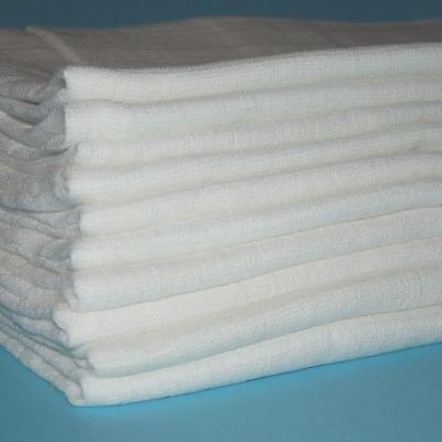 10 x Seconds Off White Muslin Squares Baby Muslins Cloths Nappy 70cm 100% Cotton