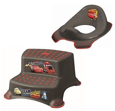 2er Set Z Disney Cars metallic WC Aufsatz + Hocker zweistufig Toilettentrainer