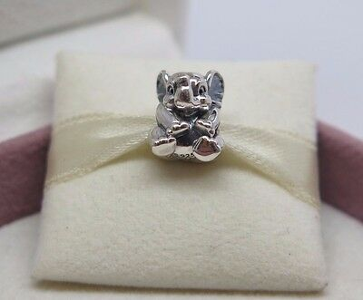New w/Box  Pandora Lucky Sitting Elephant Charm #791902 Safari Jungle