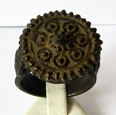 MAGNIFICENT, ANTIQUE HUGE BRONZE RING, KNOWN AS REX RING, CIRCA 1800's  # 38B