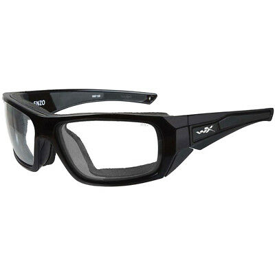 Wiley X WX Enzo Glasses EN.166 S Anti Fog Coating Clear Lens Gloss Black Frame