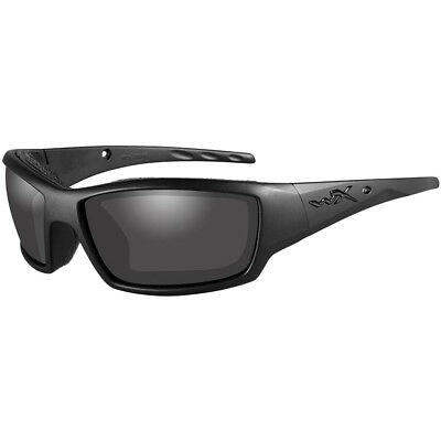 Wiley X WX Tide Glasses Modern Sport Smoke Grey Lens Black Ops Matte Black Frame
