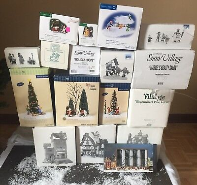 Department 56 Large Lot Snow Village Dickens Village Houses Accessories