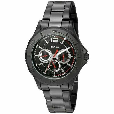 Timex TW2P87700 Men's Black Stainless Steel Band With Black Analog Dial Watch